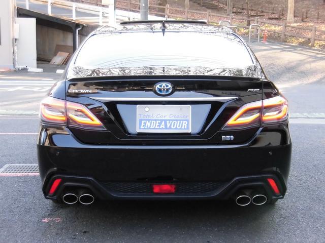 RSアドバンス 新車保証 1オーナー サンルーフ Tom'S 4本出しマフラー OP黒革 LED コーナーセンサー 純正18AW(6枚目)
