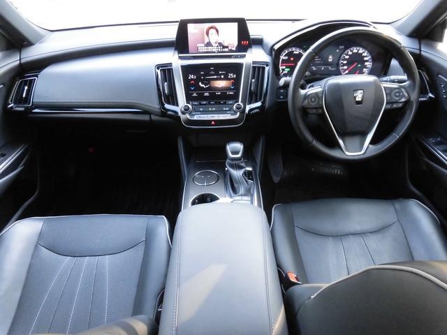 RSアドバンス 新車保証 1オーナー サンルーフ Tom'S 4本出しマフラー OP黒革 LED コーナーセンサー 純正18AW(10枚目)