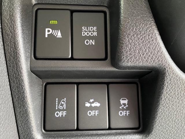 ハイブリッドX アイドリングストップ 衝突被害軽減システム 横滑り防止装置 車線逸脱警報 両側パワースライドドア コーナーセンサー シートヒーター 盗難防止装置 後部ロールサンシェード(5枚目)