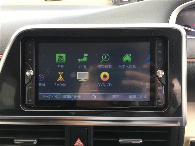 G 両側パワースライドドア 社外ナビ フルセグテレビ Bluetooth バックカメラ アイドリングストップ 革ステアリング ETC 三列シート アルミホイール 横滑り防止(4枚目)