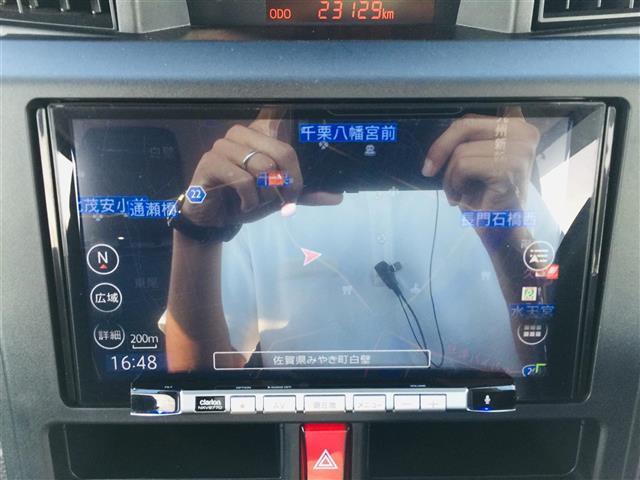 X S 衝突軽減ブレーキ 社外ナビ フルセグテレビ Bluetooth バックカメラ 後席用モニター コーナーセンサー LEDヘッドライト オートライト サンシェード スマートキー アイドリングストップ(4枚目)