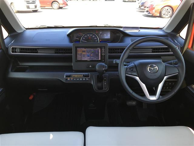ハイブリッドXS アルパインナビ フルセグテレビ Bluetooth バックカメラ 衝突軽減ブレーキ シートヒーター 革調シートカバー オートライト ステアリングスイッチ アイドリングストップ 純正14インチアルミ(3枚目)