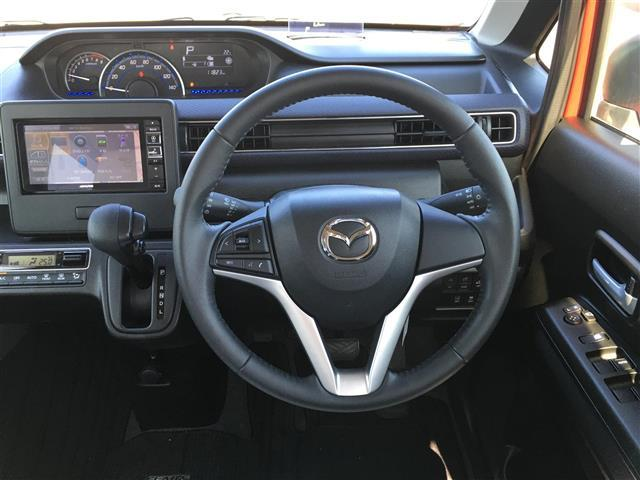ハイブリッドXS アルパインナビ フルセグテレビ Bluetooth バックカメラ 衝突軽減ブレーキ シートヒーター 革調シートカバー オートライト ステアリングスイッチ アイドリングストップ 純正14インチアルミ(8枚目)