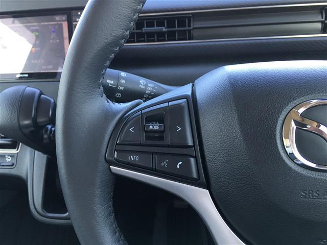 ハイブリッドXS アルパインナビ フルセグテレビ Bluetooth バックカメラ 衝突軽減ブレーキ シートヒーター 革調シートカバー オートライト ステアリングスイッチ アイドリングストップ 純正14インチアルミ(9枚目)