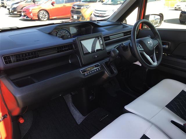 ハイブリッドXS アルパインナビ フルセグテレビ Bluetooth バックカメラ 衝突軽減ブレーキ シートヒーター 革調シートカバー オートライト ステアリングスイッチ アイドリングストップ 純正14インチアルミ(13枚目)
