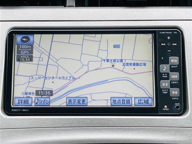 S 純正7インチナビNSCT-W61 ワンセグテレビ ステアリングスイッチ ビルトインETC オートライト HIDヘッドライト 電動格納ミラー スマートキー プッシュスタート フロアマット(9枚目)