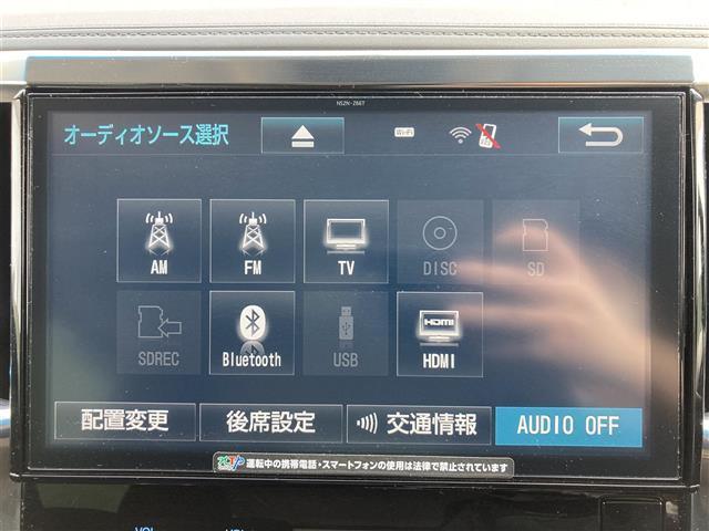 2.5S 純正10型ナビ 純正12型フリップダウンモニター バックカメラ 両側パワースライドドア クリアランスソナー フルセグTV Bluetooth 音楽録音機能 LEDヘッドライト ビルトインETC(6枚目)
