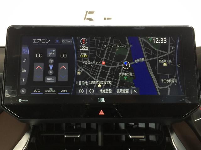 Z 登録済み未使用車 純正12.3型ディスプレイオーディオ パノラミックビューモニター JBLプレミアムサウンドシステム デジタルインナーミラー トヨタセーフティセンス パワーバックドア パワーシート(10枚目)