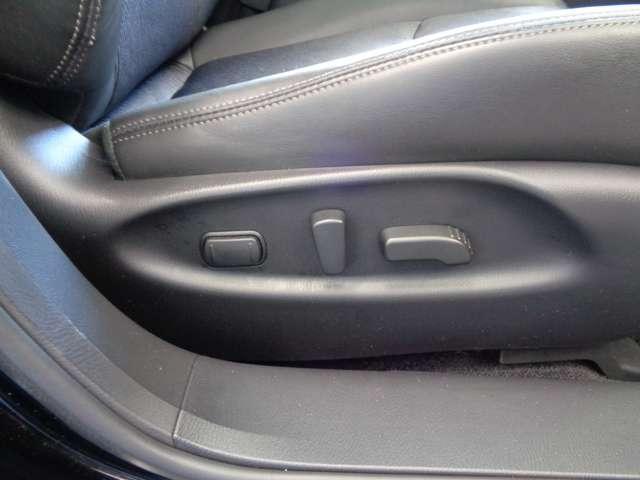 パワーシートは細かい調整ができるので、お好みのシート位置が思いのまま。