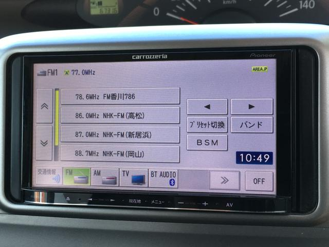 X 左側パワースライドドア 社外SDナビ CD/DVD再生可 ワンセグTV Bluetoothオーディオ ETC 純正フロアマット 電動格納ウィンカーミラー スマートキー(3枚目)