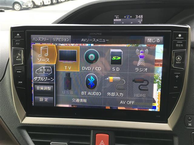 Gi ALPINE10型ナビ/12.8型フリップダウンモニターTV/CD/DVD/BT/Bカメ/両側パワ/クルコン/本革/シートヒーター/コーナーセンサ/LEDヘッドライト/フォグライト/純正15インチAW(5枚目)