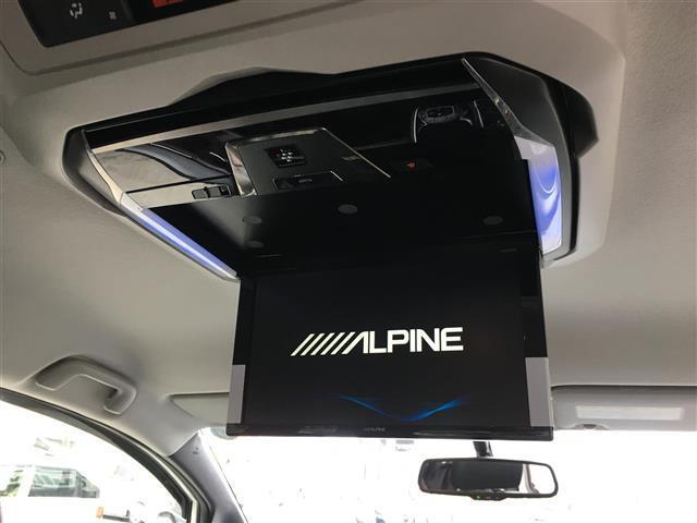 Gi ALPINE10型ナビ/12.8型フリップダウンモニターTV/CD/DVD/BT/Bカメ/両側パワ/クルコン/本革/シートヒーター/コーナーセンサ/LEDヘッドライト/フォグライト/純正15インチAW(6枚目)