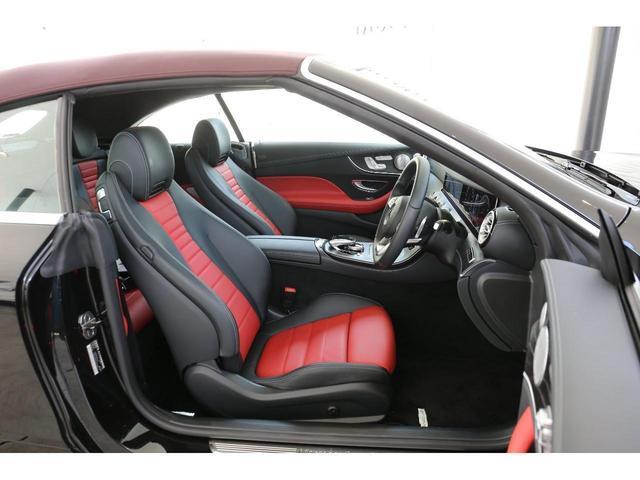E200 カブリオレ スポーツ レザーパッケージ ワンオーナー 赤内装 純正ナビ フルセグTV 360°カメラ LEDヘッドライト ブルメスタサラウンドシステム 純正19インチアルミホイール ヘッドアップディスプレイ 禁煙車(10枚目)