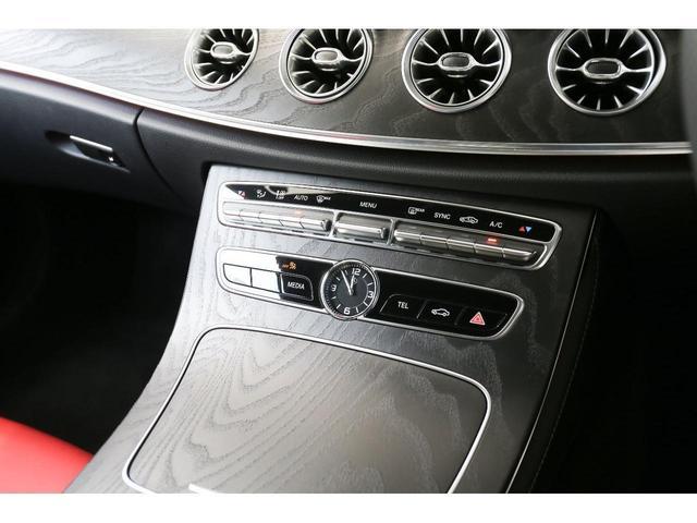 E200 カブリオレ スポーツ レザーパッケージ ワンオーナー 赤内装 純正ナビ フルセグTV 360°カメラ LEDヘッドライト ブルメスタサラウンドシステム 純正19インチアルミホイール ヘッドアップディスプレイ 禁煙車(25枚目)