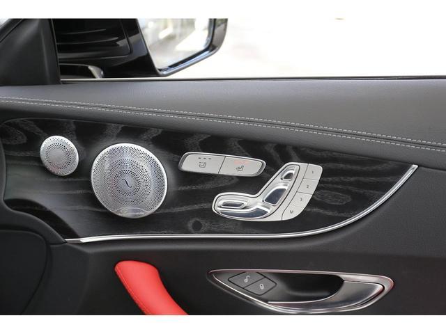 E200 カブリオレ スポーツ レザーパッケージ ワンオーナー 赤内装 純正ナビ フルセグTV 360°カメラ LEDヘッドライト ブルメスタサラウンドシステム 純正19インチアルミホイール ヘッドアップディスプレイ 禁煙車(34枚目)