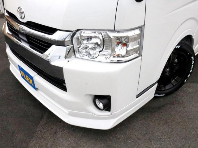 GL ロング 新車未登録 ワゴンGL FLEXオリジナルVer1 パールホワイト 6型 新型 フロントリップ アルミ LEDテールランプ テーブル 床張り SDフルセグ地デジナビ フリップダウンモニター ETC(4枚目)