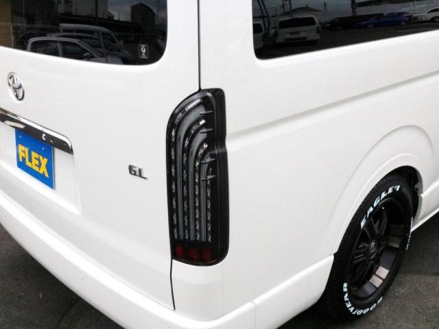 GL ロング 新車未登録 ワゴンGL FLEXオリジナルVer1 パールホワイト 6型 新型 フロントリップ アルミ LEDテールランプ テーブル 床張り SDフルセグ地デジナビ フリップダウンモニター ETC(6枚目)