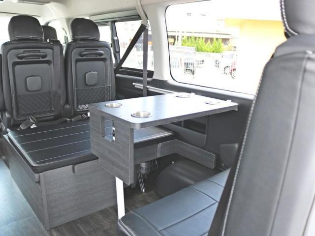 GL ロング 新車未登録 ワゴンGL FLEXオリジナルVer1 パールホワイト 6型 新型 フロントリップ アルミ LEDテールランプ テーブル 床張り SDフルセグ地デジナビ フリップダウンモニター ETC(9枚目)