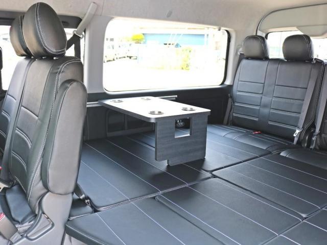 GL ロング 新車未登録 ワゴンGL FLEXオリジナルVer1 パールホワイト 6型 新型 フロントリップ アルミ LEDテールランプ テーブル 床張り SDフルセグ地デジナビ フリップダウンモニター ETC(10枚目)