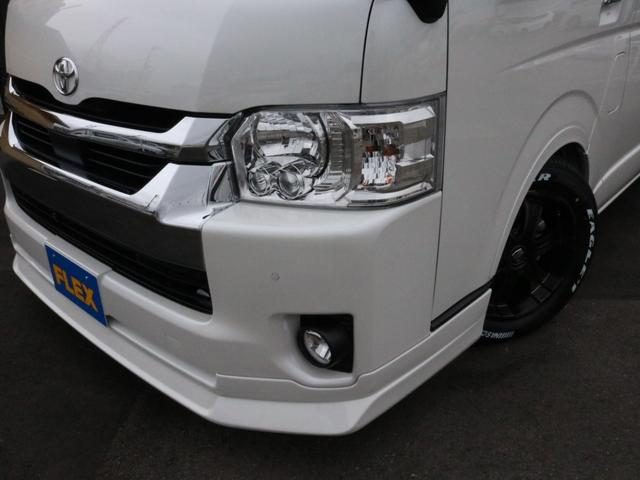 GL ロング 新車未登録 ワゴンGL FLEXオリジナルVer1 パールホワイト 6型 新型 フロントリップ アルミ LEDテールランプ テーブル 床張り SDフルセグ地デジナビ フリップダウンモニター ETC(49枚目)