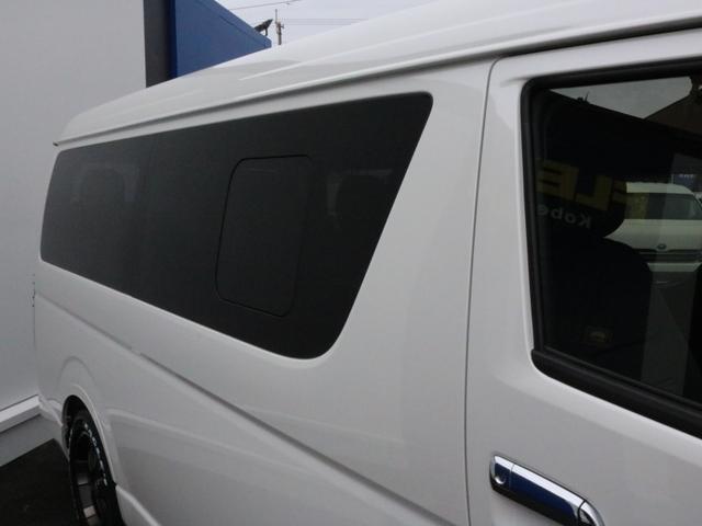 GL ロング 新車未登録 ワゴンGL FLEXオリジナルVer1 パールホワイト 6型 新型 フロントリップ アルミ LEDテールランプ テーブル 床張り SDフルセグ地デジナビ フリップダウンモニター ETC(50枚目)