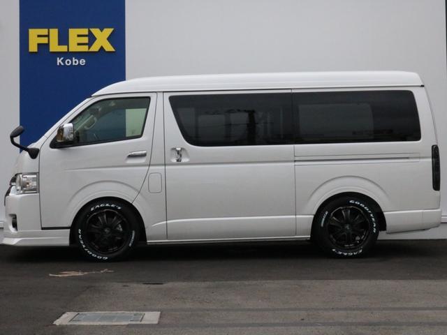 GL ロング 新車未登録 ワゴンGL FLEXオリジナルVer1 パールホワイト 6型 新型 フロントリップ アルミ LEDテールランプ テーブル 床張り SDフルセグ地デジナビ フリップダウンモニター ETC(54枚目)