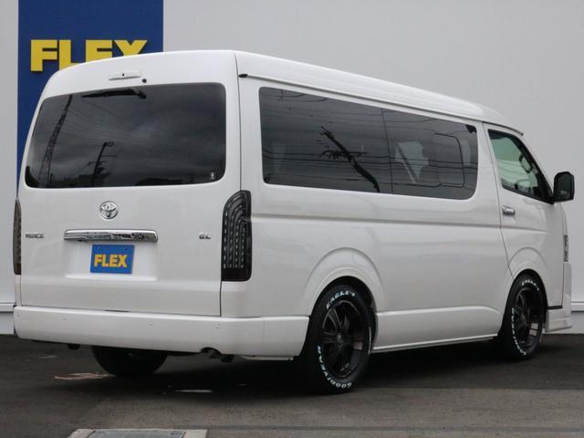 GL ロング 新車未登録 ワゴンGL FLEXオリジナルVer1 パールホワイト 6型 新型 フロントリップ アルミ LEDテールランプ テーブル 床張り SDフルセグ地デジナビ フリップダウンモニター ETC(55枚目)