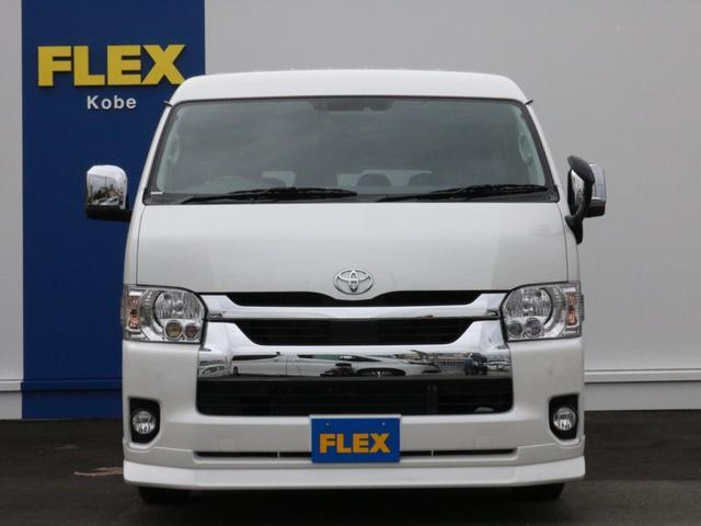 GL ロング 新車未登録 ワゴンGL FLEXオリジナルVer1 パールホワイト 6型 新型 フロントリップ アルミ LEDテールランプ テーブル 床張り SDフルセグ地デジナビ フリップダウンモニター ETC(57枚目)