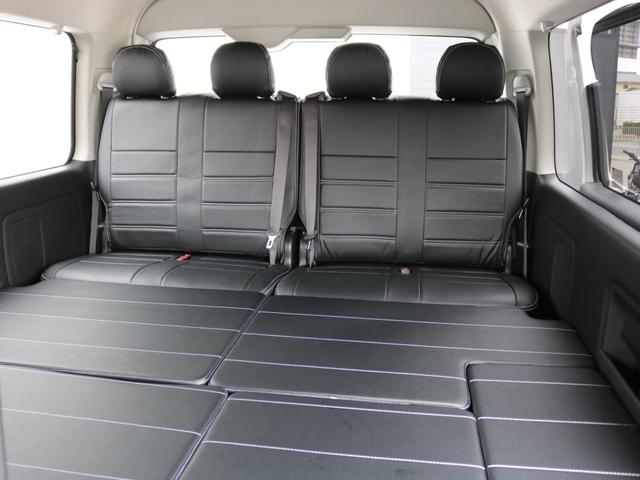 GL ロング 新車未登録 ワゴンGL FLEXオリジナルVer1 パールホワイト 6型 新型 フロントリップ アルミ LEDテールランプ テーブル 床張り SDフルセグ地デジナビ フリップダウンモニター ETC(63枚目)