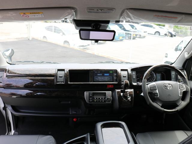 GL ロング 新車未登録 ワゴンGL FLEXオリジナルVer1 パールホワイト 6型 新型 フロントリップ アルミ LEDテールランプ テーブル 床張り SDフルセグ地デジナビ フリップダウンモニター ETC(68枚目)