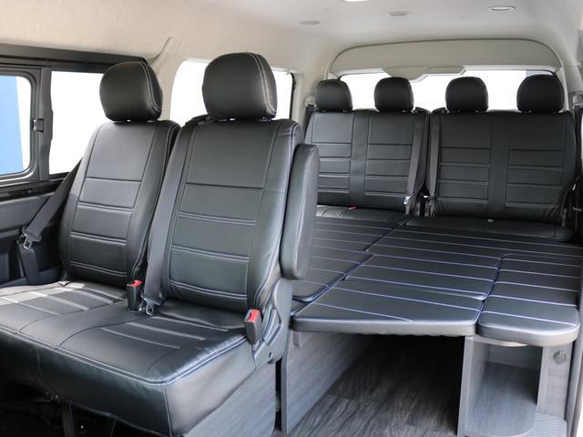 GL ロング 新車未登録 ワゴンGL FLEXオリジナルVer1 パールホワイト 6型 新型 フロントリップ アルミ LEDテールランプ テーブル 床張り SDフルセグ地デジナビ フリップダウンモニター ETC(72枚目)