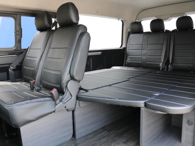 GL ロング 新車未登録 ワゴンGL FLEXオリジナルVer1 パールホワイト 6型 新型 フロントリップ アルミ LEDテールランプ テーブル 床張り SDフルセグ地デジナビ フリップダウンモニター ETC(73枚目)