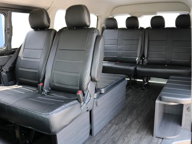 GL ロング 新車未登録 ワゴンGL FLEXオリジナルVer1 パールホワイト 6型 新型 フロントリップ アルミ LEDテールランプ テーブル 床張り SDフルセグ地デジナビ フリップダウンモニター ETC(75枚目)
