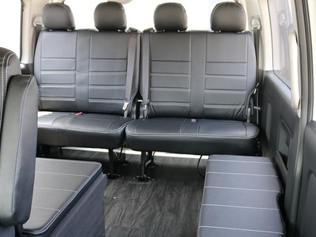 GL ロング 新車未登録 ワゴンGL FLEXオリジナルVer1 パールホワイト 6型 新型 フロントリップ アルミ LEDテールランプ テーブル 床張り SDフルセグ地デジナビ フリップダウンモニター ETC(77枚目)