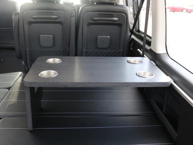 GL ロング 新車未登録 ワゴンGL FLEXオリジナルVer1 パールホワイト 6型 新型 フロントリップ アルミ LEDテールランプ テーブル 床張り SDフルセグ地デジナビ フリップダウンモニター ETC(80枚目)