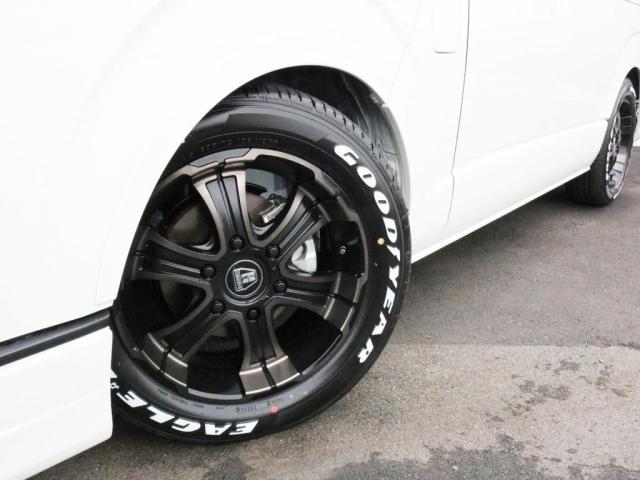 GL ロング 未登録新車 FLEXシートアレンジVer2 6型ホワイトパール エアロフロントリップ テールランプ テーブル 床張り施工 ETC フルフラット 車中泊ベッドキット ベンチシートパワースライド カスタム(4枚目)