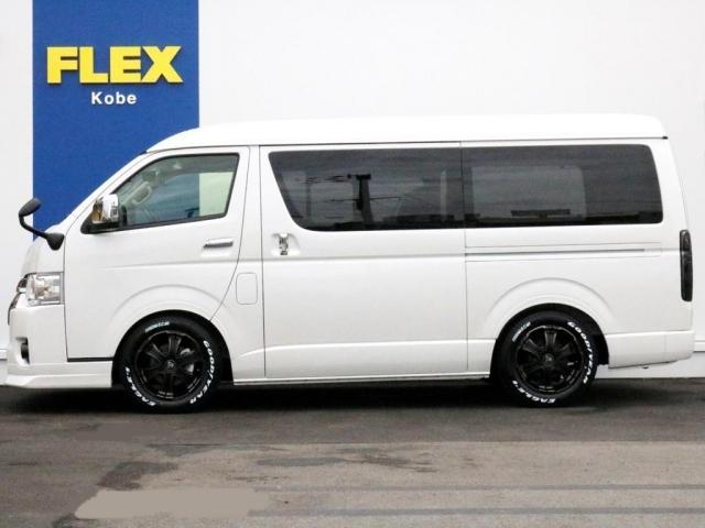 GL ロング 未登録新車 FLEXシートアレンジVer2 6型ホワイトパール エアロフロントリップ テールランプ テーブル 床張り施工 ETC フルフラット 車中泊ベッドキット ベンチシートパワースライド カスタム(5枚目)
