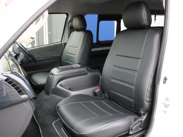 GL ロング 未登録新車 FLEXシートアレンジVer2 6型ホワイトパール エアロフロントリップ テールランプ テーブル 床張り施工 ETC フルフラット 車中泊ベッドキット ベンチシートパワースライド カスタム(11枚目)