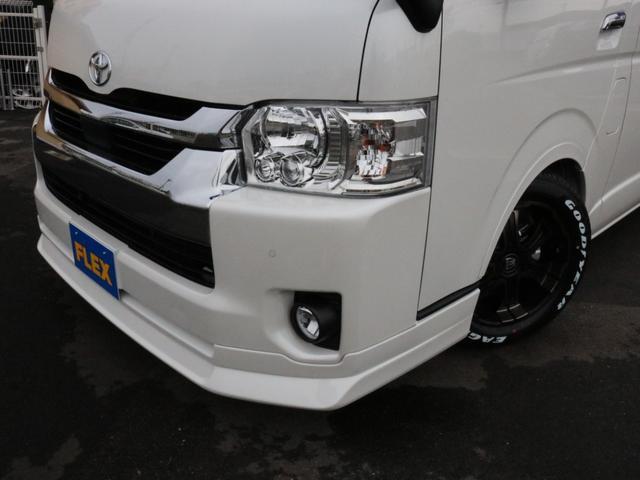 GL ロング 未登録新車 FLEXシートアレンジVer2 6型ホワイトパール エアロフロントリップ テールランプ テーブル 床張り施工 ETC フルフラット 車中泊ベッドキット ベンチシートパワースライド カスタム(48枚目)