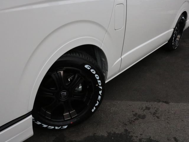 GL ロング 未登録新車 FLEXシートアレンジVer2 6型ホワイトパール エアロフロントリップ テールランプ テーブル 床張り施工 ETC フルフラット 車中泊ベッドキット ベンチシートパワースライド カスタム(49枚目)