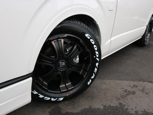 GL ロング 未登録新車 FLEXシートアレンジVer2 6型ホワイトパール エアロフロントリップ テールランプ テーブル 床張り施工 ETC フルフラット 車中泊ベッドキット ベンチシートパワースライド カスタム(50枚目)