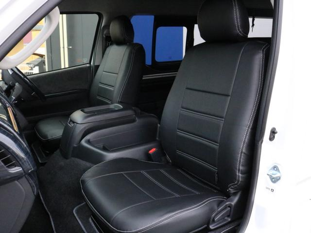 GL ロング 未登録新車 FLEXシートアレンジVer2 6型ホワイトパール エアロフロントリップ テールランプ テーブル 床張り施工 ETC フルフラット 車中泊ベッドキット ベンチシートパワースライド カスタム(51枚目)