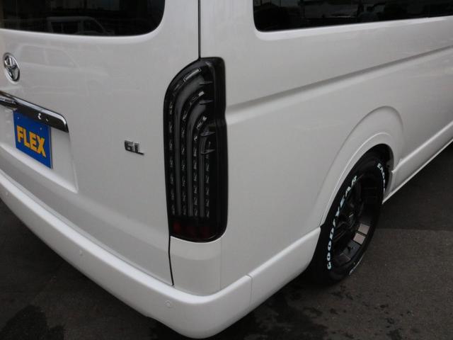 GL ロング 未登録新車 FLEXシートアレンジVer2 6型ホワイトパール エアロフロントリップ テールランプ テーブル 床張り施工 ETC フルフラット 車中泊ベッドキット ベンチシートパワースライド カスタム(68枚目)