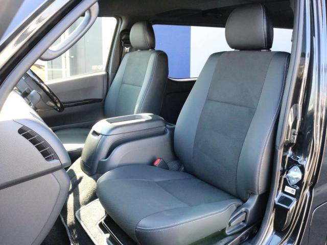 スーパーGL ダークプライムII 未登録新車6型ハイエースバン2WD スーパーGLダークプライム2特別仕様車 カスタムパッケージ ブラック黒 レジャーキャンプアウトドア車中泊ベッドキット 積載 SDフルセグナビ パノラミックビュー(11枚目)