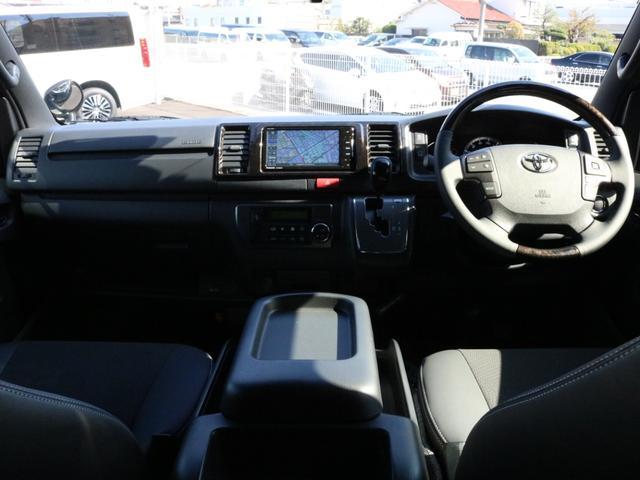 スーパーGL ダークプライムII 未登録新車6型ハイエースバン2WD スーパーGLダークプライム2特別仕様車 カスタムパッケージ ブラック黒 レジャーキャンプアウトドア車中泊ベッドキット 積載 SDフルセグナビ パノラミックビュー(55枚目)