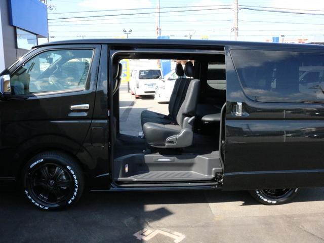 スーパーGL ダークプライムII 未登録新車6型ハイエースバン2WD スーパーGLダークプライム2特別仕様車 カスタムパッケージ ブラック黒 レジャーキャンプアウトドア車中泊ベッドキット 積載 SDフルセグナビ パノラミックビュー(72枚目)