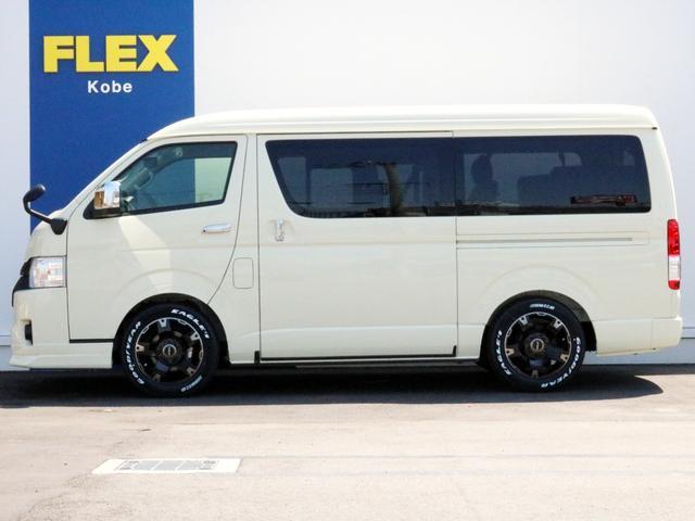 ハイエースのことなら専門店のFLEX神戸店へ! 新車中古車販売は勿論のこと、経費が使えるリースや、ローンを使った販売など新たにハイエースライフを始めるお手伝いを致します。