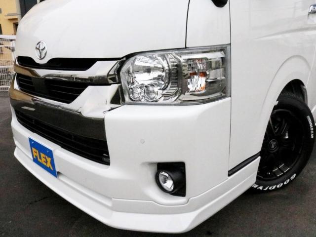 スーパーGL ダークプライムIIワイド ロングボディ FLEXカスタムPKG 両側パワースライドドア フロントリップスポイラー Delf03 17インチホイール ホワイトレタータイヤ ローダウン ベッドキットフラットタイプ車中泊対応 SDフルセグ ETC(3枚目)