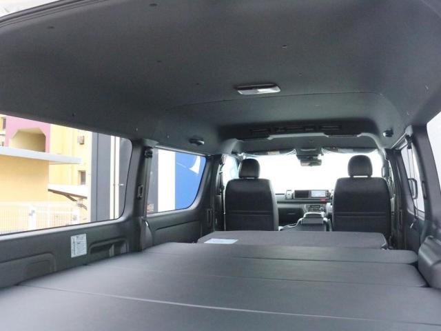 スーパーGL ダークプライムIIワイド ロングボディ FLEXカスタムPKG 両側パワースライドドア フロントリップスポイラー Delf03 17インチホイール ホワイトレタータイヤ ローダウン ベッドキットフラットタイプ車中泊対応 SDフルセグ ETC(13枚目)
