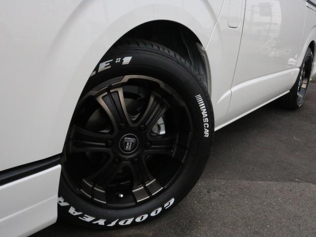 スーパーGL ダークプライムIIワイド ロングボディ FLEXカスタムPKG 両側パワースライドドア フロントリップスポイラー Delf03 17インチホイール ホワイトレタータイヤ ローダウン ベッドキットフラットタイプ車中泊対応 SDフルセグ ETC(52枚目)